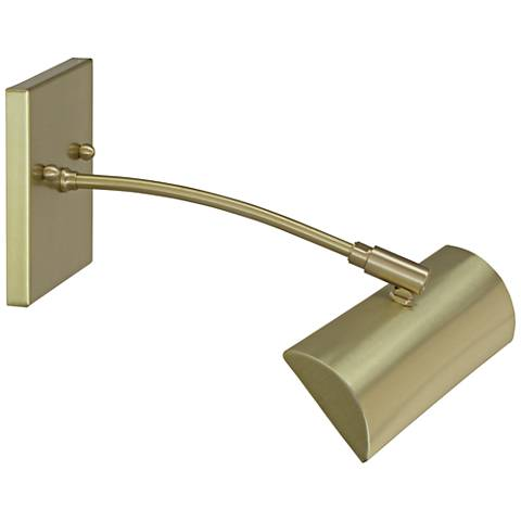 "Zenith 12"" Wide Satin Brass Direct Wire LED Picture Light"