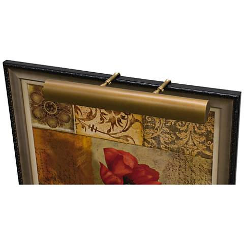 """House of Troy Traditional 21""""W Weathered Brass Picture Light"""