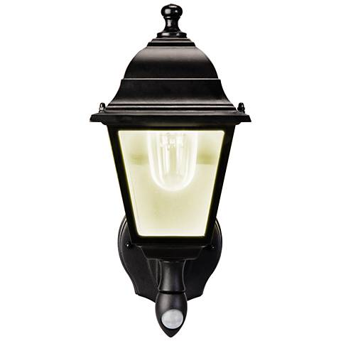 "Black 6""H Warm White Battery Powered LED Outdoor Wall Light"