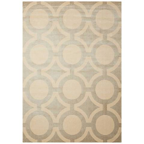 Nourison Luminance LUM01 Cream Gray Area Rug