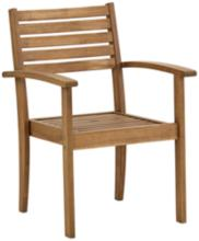 """Nantucket 24"""" Wide Natural Wood Outdoor Arm Chair"""
