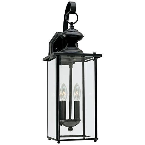 """Jamestowne 20 1/4"""" High Black 2-Light LED Outdoor Wall Light"""