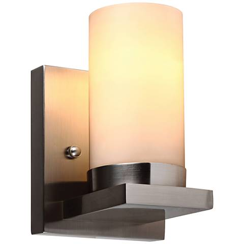 "Ellington 8"" High Brushed Nickel Wall Sconce"