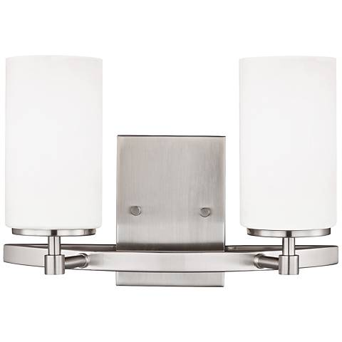 """Alturas 9"""" High Brushed Nickel 2-Light Wall Sconce"""