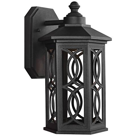 "Ormsby 12 1/4"" High Black LED Outdoor Wall Light"