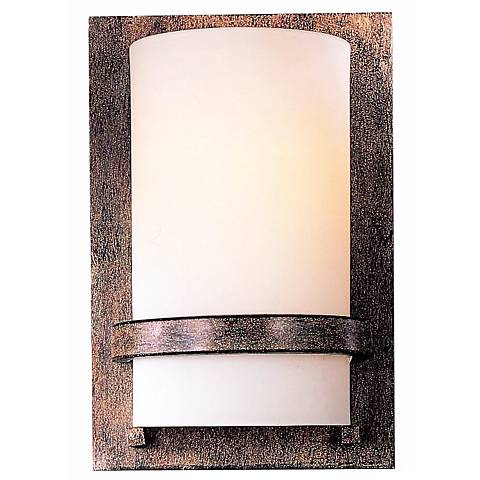 "Contemporary 10"" High Iron Oxide Wall Sconce"