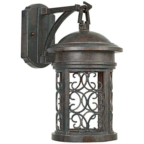"Ellington 16 1/4""H Aged Mediterranean Outdoor Wall Light"
