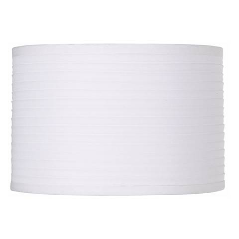 White Horizontal Pleat Drum Lamp Shade 11x11x7.5 (Spider)