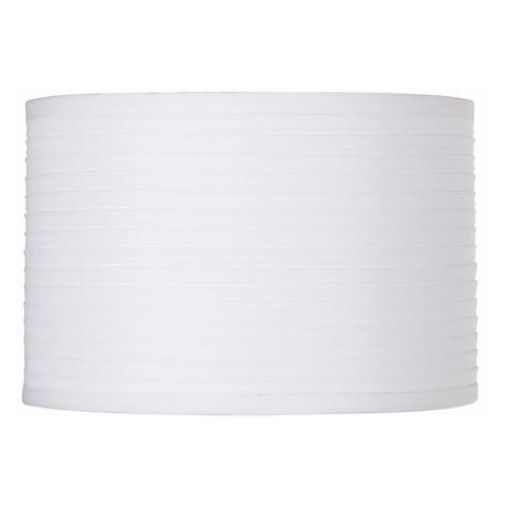 White Horizontal Pleat Drum Lamp Shade 11x11x7.5 (Spider)