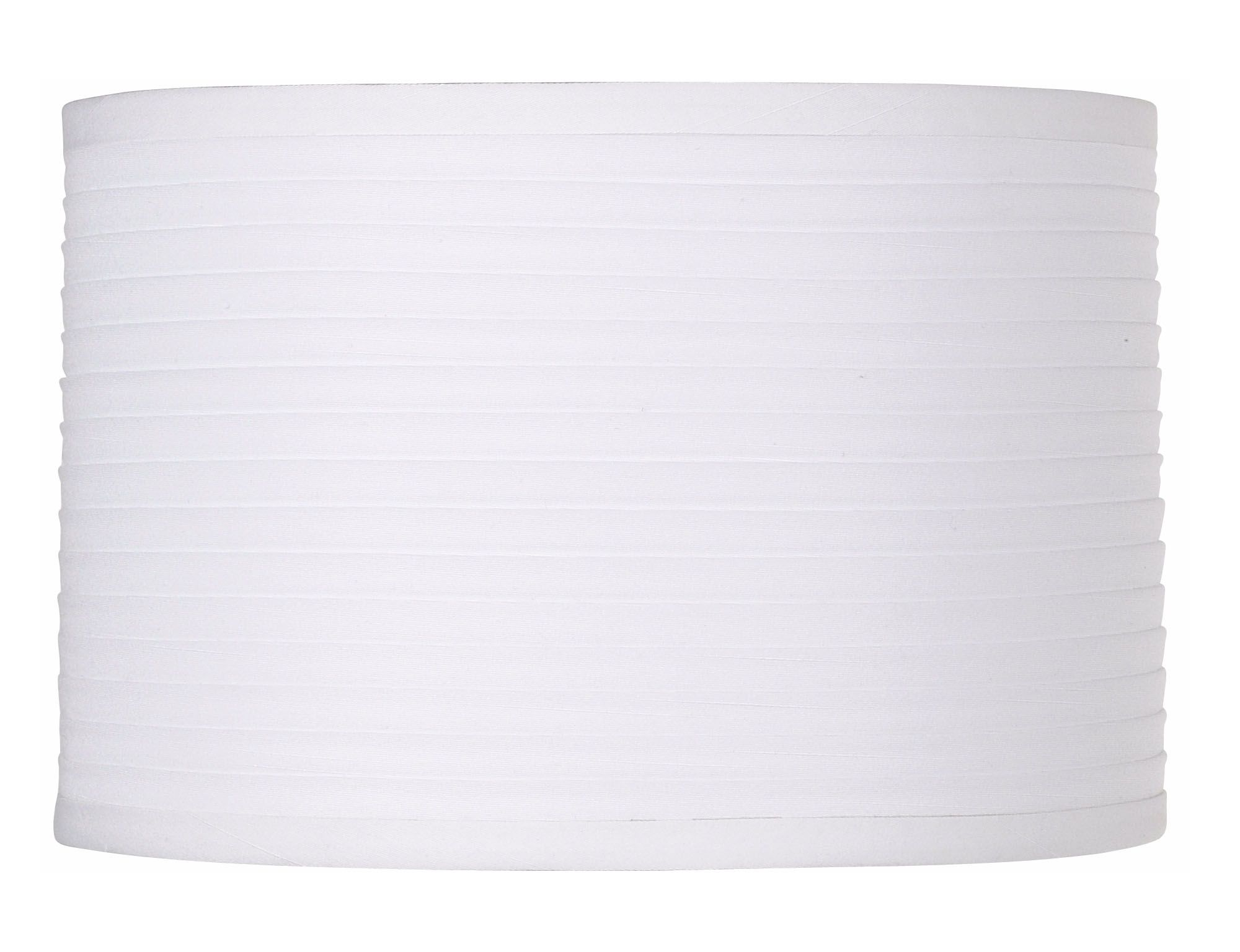 white horizontal pleat drum lamp shade 11x11x75 spider