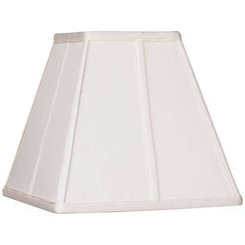 Ivory Classic Square Shade 5.25x10x9 (Spider)