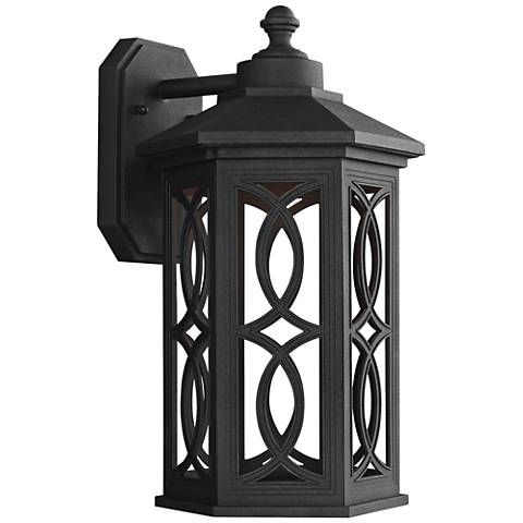 """Ormsby 15 1/2"""" High Black LED Outdoor Wall Light"""
