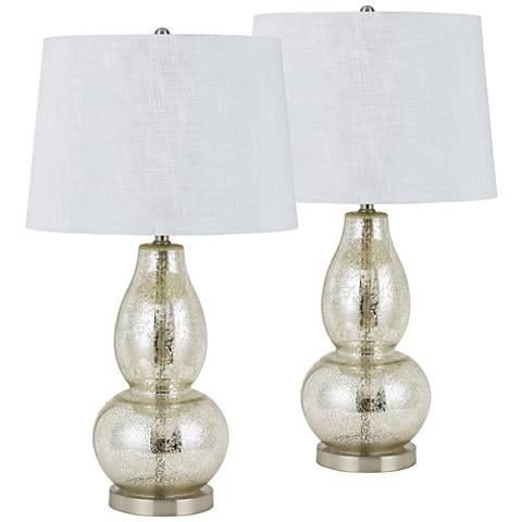 Joliet Glass Table Lamp Set of 2