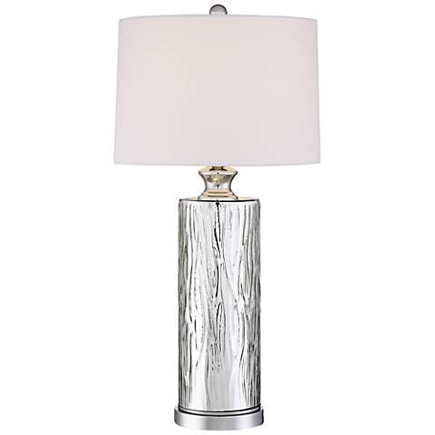 Bebe Silver Glass Table Lamp