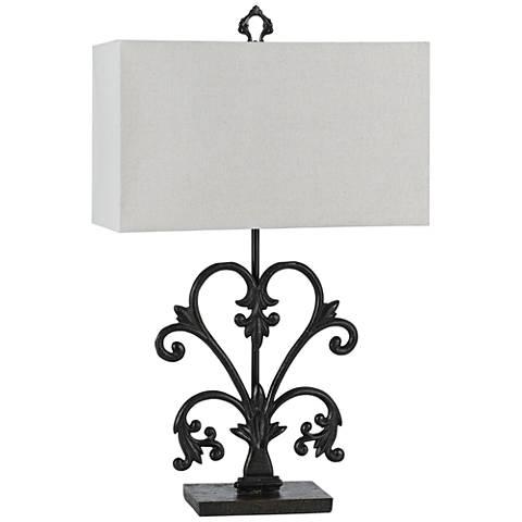 Murcia Blacksmith Metal Table Lamp