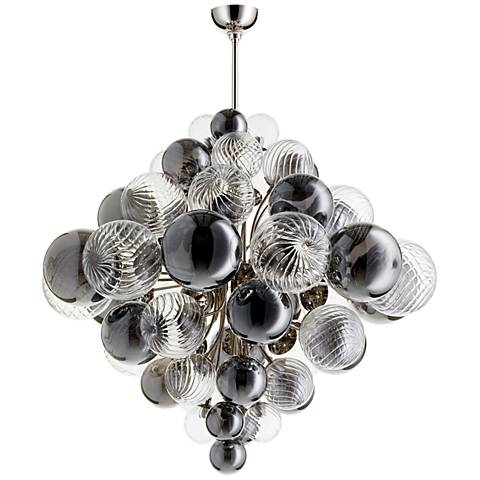 "Valence 33 3/4"" Wide Polished Nickel 25-Light Pendant"