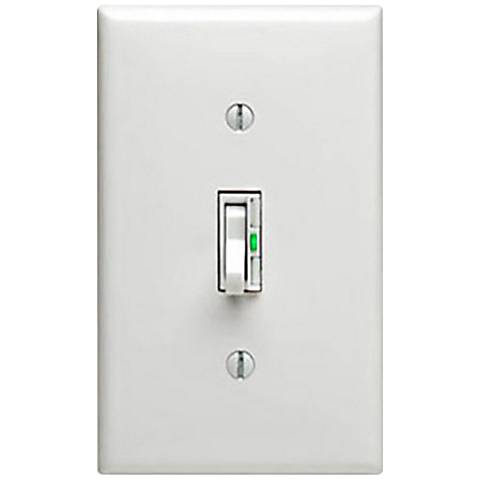 Leviton White Universal Toggle Slider Dimmer