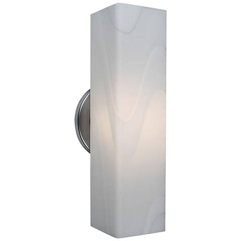 "Bruck Houston 12"" High White Artisan Glass LED Wall Sconce"