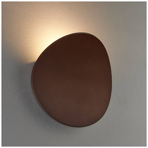"Bruck Lunaro 8 1/4"" High Bronze LED Wall Sconce"