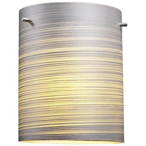 "Bruck Regal 8"" Wide Silver Textured Glass Ceiling Light"