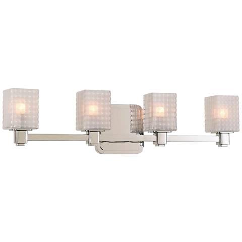 "Avanti 24"" Wide Polished Nickel 4-LED Bath Light"