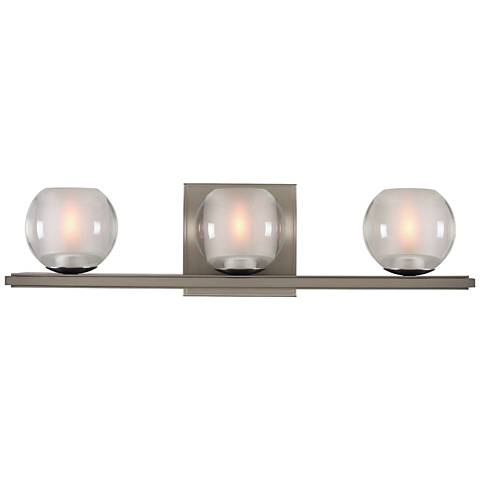 "Corona 19"" Wide Satin Nickel 3-LED Bath Light"