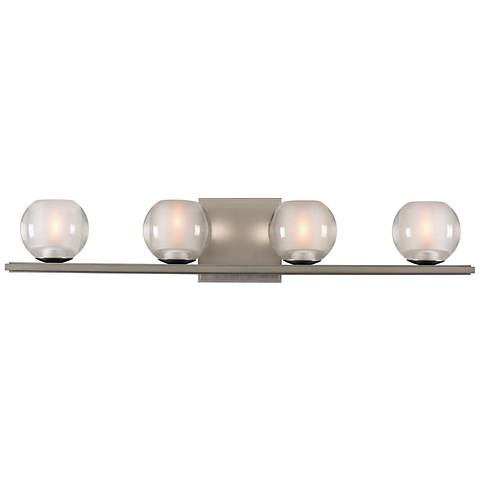"Corona 26"" Wide Satin Nickel 4-LED Bath Light"