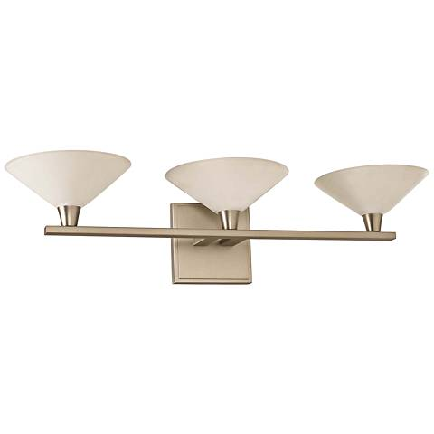 "Galvaston 23"" Wide Satin Nickel 3-LED Bath Light"