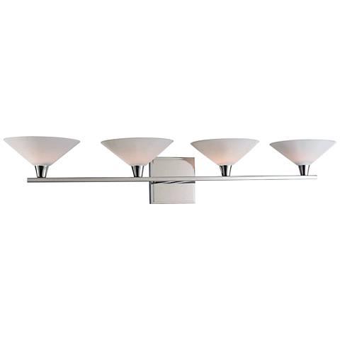 "Galvaston 31"" Wide Polished Nickel 4-LED Bath Light"