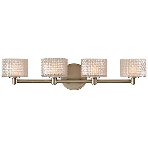 "Willow 26"" Wide Satin Nickel 4-LED Bath Light"