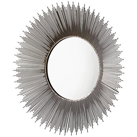 """Cyan Design Aludra Zinc Antique 31"""" Round Wall Mirror"""