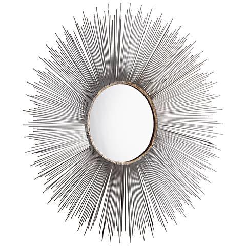 """Cyan Design Aludra Zinc Antique 45 1/2"""" Round Wall Mirror"""