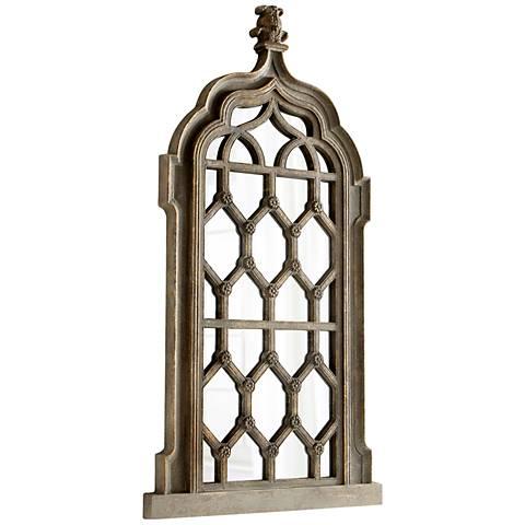 """Borey Golden Rust 39 3/4"""" x 78"""" Cathedral Floor Mirror"""