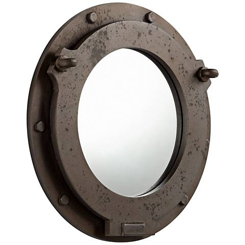 "Cyan Design Industrial Ore Brown 19"" Round Wall Mirror"