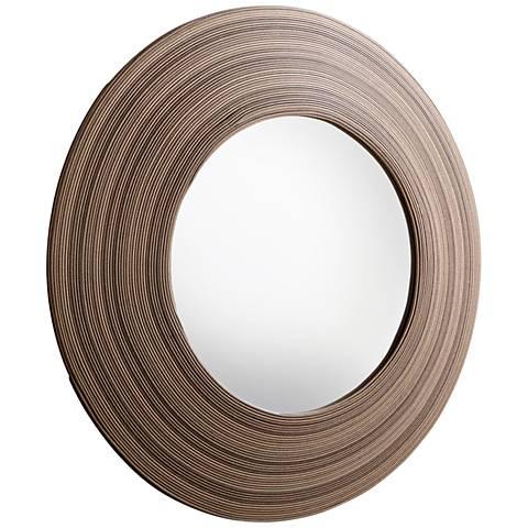 "Cyan Design Tristian Espresso 35 3/4"" Round Wall Mirror"