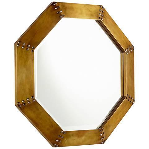 "Cyan Design Gold 27 3/4"" x 27 3/4"" Octagon Wall Mirror"