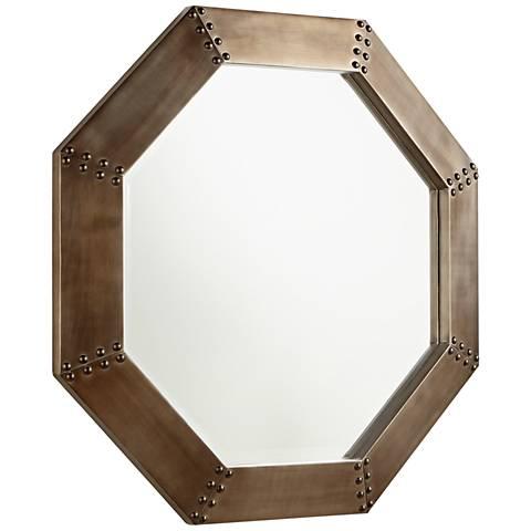 """Cyan Design Silver 27 3/4"""" x 27 3/4"""" Octagon Wall Mirror"""