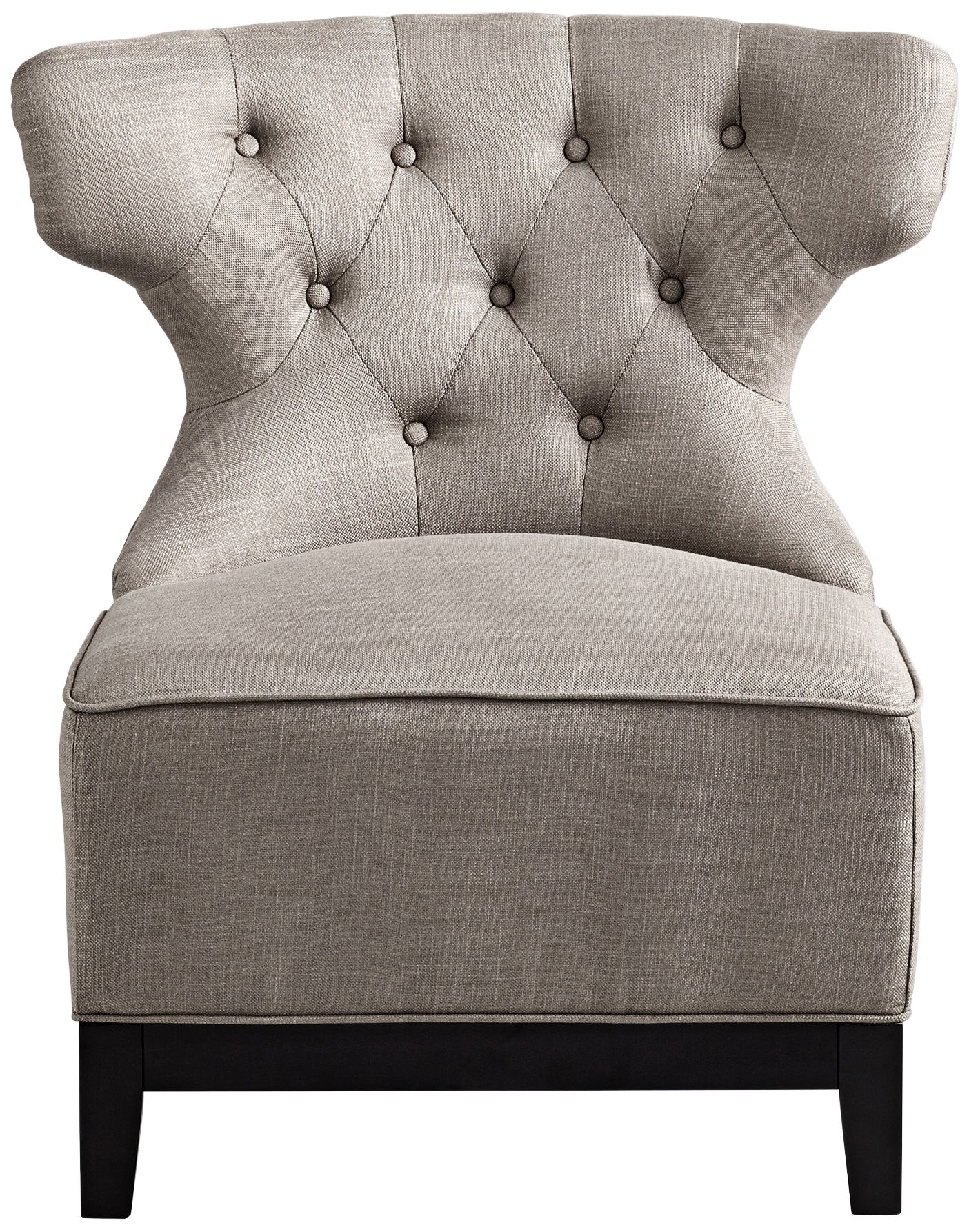 cyan design niles gray cotton tufted accent chair