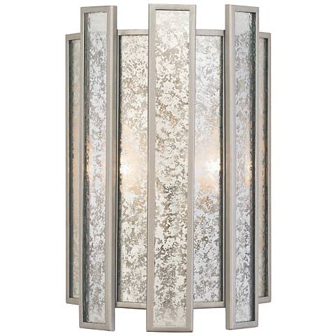 "Palisade 14"" High Tarnished Silver Wall Sconce"