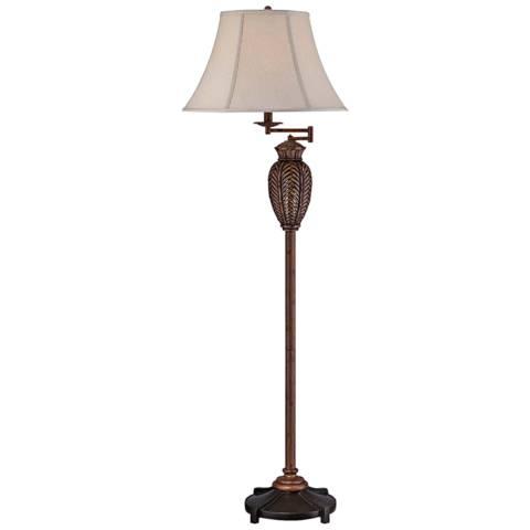 Wicker Antique Swing Arm Floor Lamp 23n78 Lamps Plus