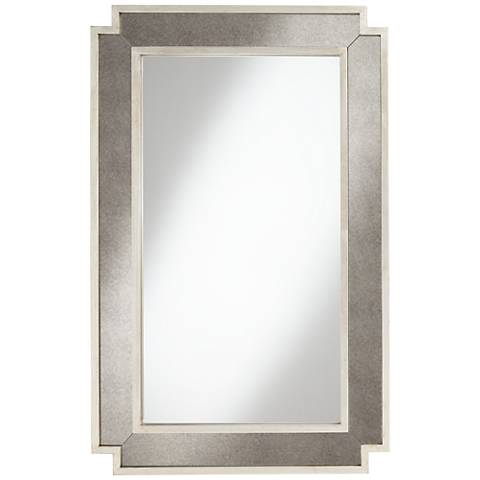 """Adelaide Champagne Silver 29"""" x 45"""" Wall Mirror"""