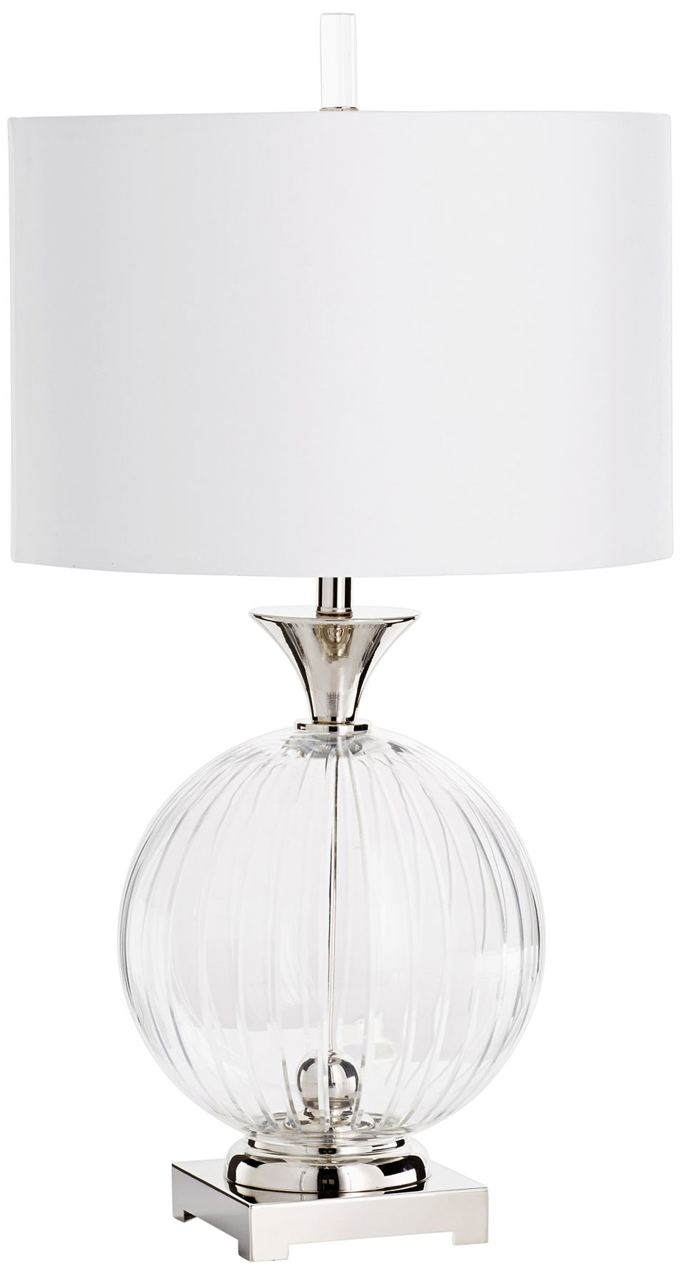 Dimond Ribbed Clear Glass Table Lamp 7T035 Lamps Plus