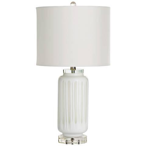 Cyan Design Winterton White Glass Table Lamp
