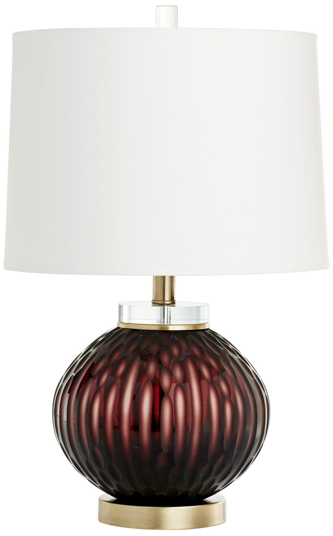 Cyan Design Denley Purple Glass Table Lamp