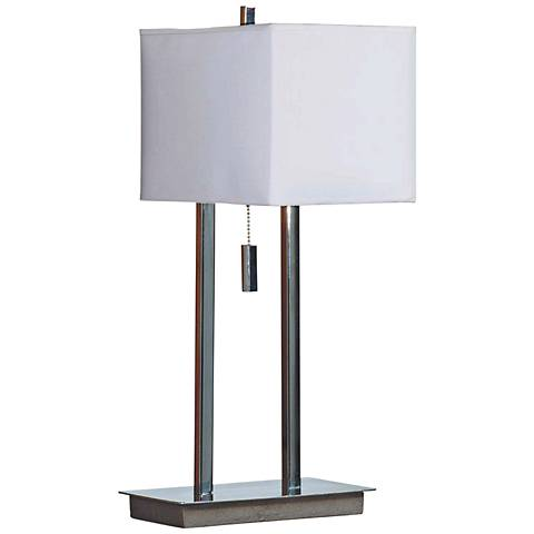 Kenroy Home Emilio Chrome Accent Table Lamp