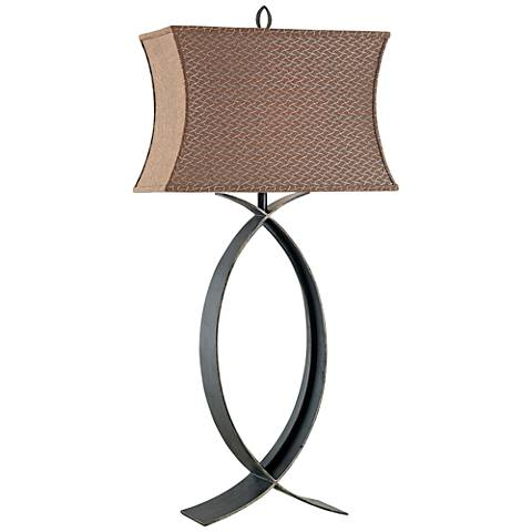 Kenroy Home Pisces Oxidized Bronze Table Lamp