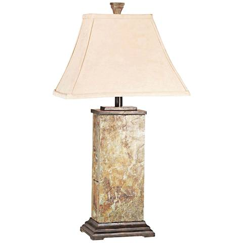 Kenroy Home Bennington Natural Slate Table Lamp