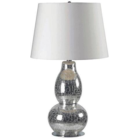 Kenroy Home Mercurio Chrome Crackled Glass Table Lamp