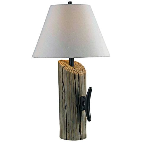 Kenroy Home Cole Wood Grain Table Lamp