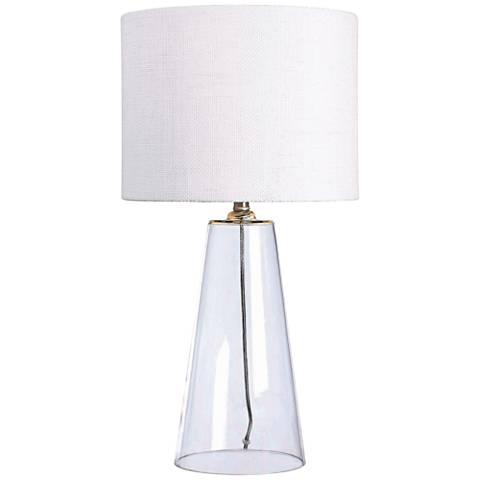 Kenroy Home Boda Clear Glass Table Lamp